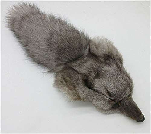 Real Fox Head Face Pelt Tanned Fox Skin Fox Tail Scrap Fur Hide (Bag with Fox Head + Tail)