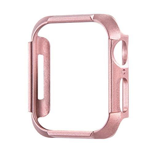 Cubierta de PC enchapada para Apple Watch Case Series SE / 6/5/4 Carcasa Protectora Ligera a Prueba de Golpes para iWatch 44MM 40MM