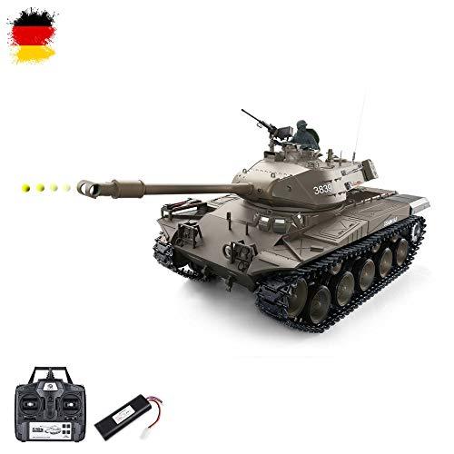 US Bulldog M41A3 ferngesteuerter Panzer in der neuesten Version mit Metallgetriebe, Schuss, Sound, Rauch, Beleuchtung und 2.4GHz, Maßstab 1:16