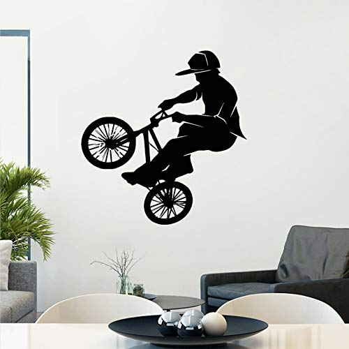 Tianpengyuanshuai BMX wandtattoo, personaliseerbaar, sportposter vinyl, zelfklevend, wanddecoratie, ramen, fiets, glas