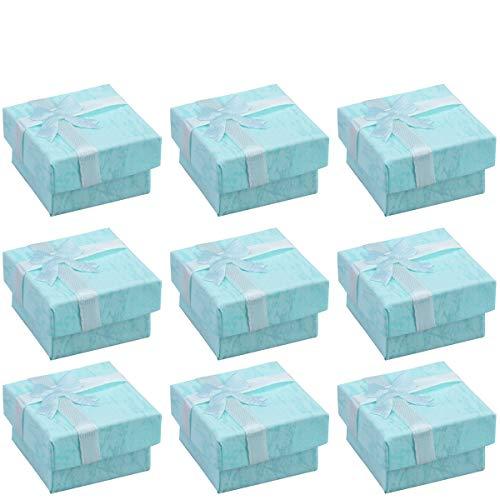 OUNONA 24pcs Organizadores de la joyería Cajas de Regalo de Almacenamiento para Pendientes Collar de la Pulsera (Azul)