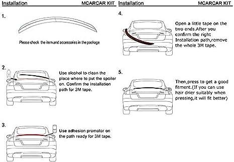 Coda Decorazione Accessori Auto Spoiler Posteriore alettone Posteriore per Auto in Materiale ABS di Alta qualit/à per Nissan Qashqai 2007-2013 2008 2009 2010 2011 2012