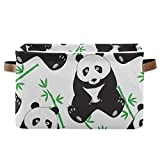 Cesta de almacenamiento con diseño de oso panda de animales grandes, plegable,...