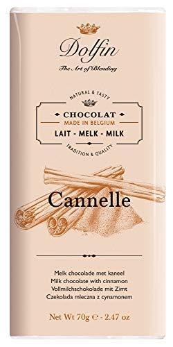 Dolfin Tavoletta Cioccolato al Latte 38% alla Cannella Made in Belgio - 1 x 70 Grammi