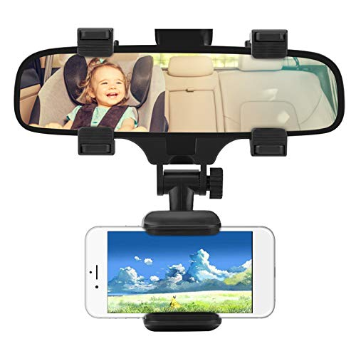 Supporto per specchietto retrovisore per auto GPS per smartphone, supporto universale per telefono cellulare Supporto per staffa per specchietto retrovisore