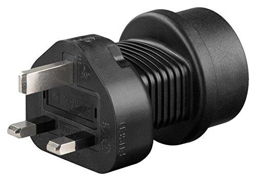 adaptare 50001 Reise-Adapter Gerät mit Schuko-/Euro-Stecker an 3-polig UK-Steckdose Typ G