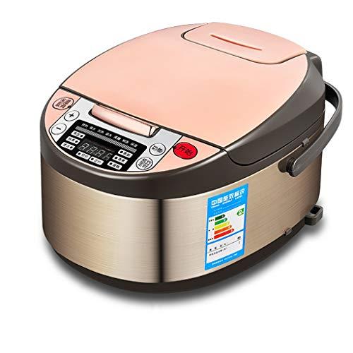 Cuiseur de riz multifonction multifonction 8 en 1 de ménage intelligent de 3 litres avec commande à une touche Pot Pot intérieur double qualité (Couleur : Red)