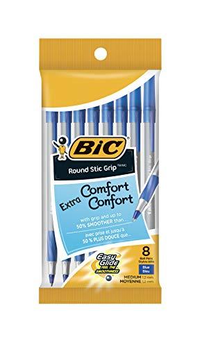 Bolígrafo BIC Stic Grip, color azul 8 Count