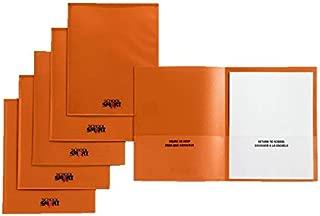 School Smart Take Home Heavy-Duty Folder, Orange, Pack of 24