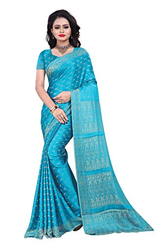 Trendofindia Indian Bollywood Sari Azul Claro CA112