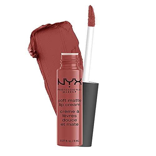 NYX Professional Makeup Lippenstift, Soft Matte Lip Cream, Cremiges und mattes Finish, Hochpigmentiert, Langanhaltend, Vegane Formel, Farbton: Rome