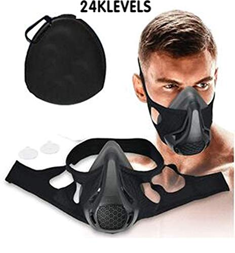 nobrand 24 Levels Adjustable Oxygen simulate high Altitude Breathe Resistance Training Sports mask with Resistance Films
