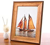 5x7 Picture Frame Elegant and Nice Design Wood 5x7 Photo Display Photo Frame for Desk or Wall 1 Pack(with Real Glass )