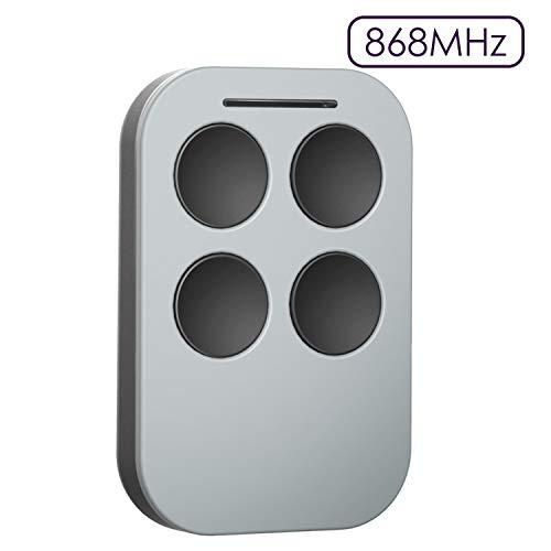 Universal Handsender, Refoss 868MHz Sender für mit 4 Tasten, Garagentor Funkfernbedienung, Selbstlernend Transmitter, Kompatibel mit HSM2, HSM4, HS1, HSES2, HSZ1, HSP4, 4020, 4026 Gray