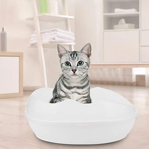 SALUTUYA Caja de Arena para Gatos Long Life 37x27,5x15cm Uso en Interiores(White)