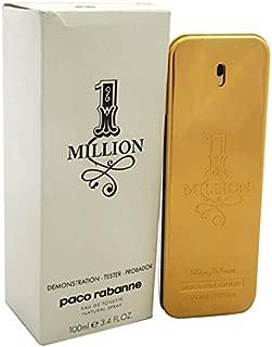 1 Million By Paco Rabanne For Men's Eau De Toilette TESTER 3.4 fl oz 100 ml
