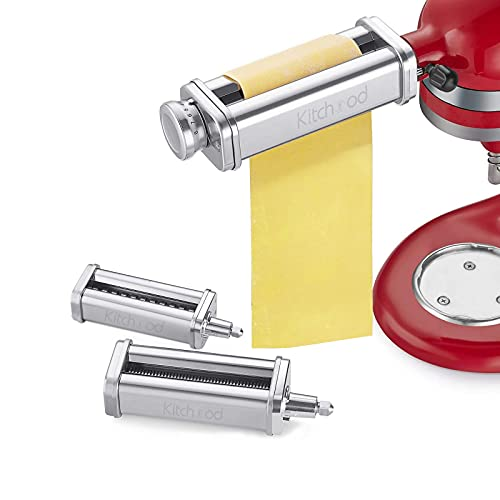 Pasta Attachment for KitchenAid Stand Mixers,Pasta Maker 3-Piece Set...