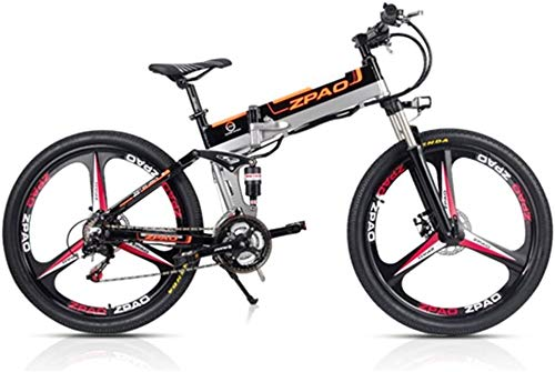 Best Buy! IMBM ZP26 26 inch Folding Electric Bicycle, 48V 350W Powerful Motor, 21 Speed Mountain Bik...