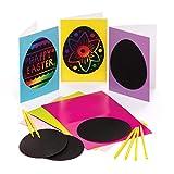 Baker Ross Cartes de Pâques à gratter (Lot de 6) Loisirs créatifs de Pâques pour Enfants