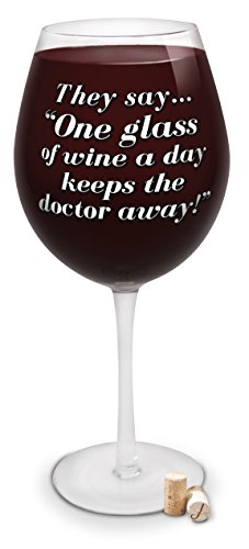 BigMouth Inc Riesiges Weinglas mit Aufschrift