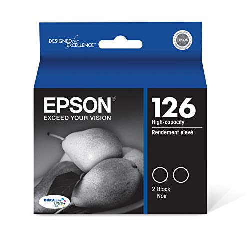 Epson T126120-D2 DURABrite Ultra Black Dual Pack High Capacity Cartridge Ink Georgia