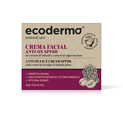 Ecoderma Anti-Ox Face Cream SPF20 50ml - Provides Brightness, Turgence And Cell Protection Against Uv Exposure