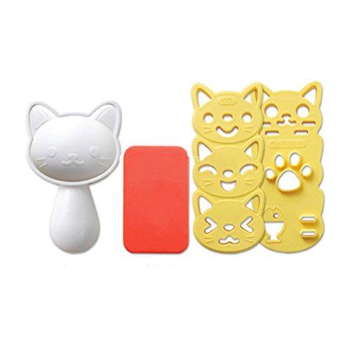 OUNONA Form für Reis in Katzenform, Form für Onigiri, Form für Schokolade oder Ei von Sushi Tool Kit von DIY Küche
