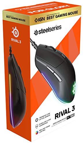 SteelSeries軽量ゲーミングマウスSteelSeriesRival362513【国内正規品1年保証】