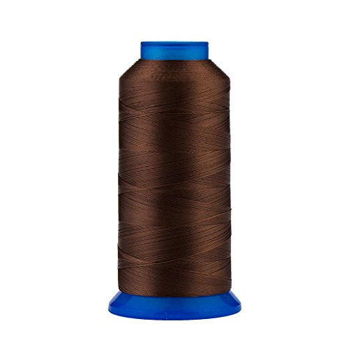 Selric [1500Yards / 30 Colors Available] UV Resistant High Strength Polyester Thread #69 T70 Size 210D/3 for Upholstery, Outdoor Market, Drapery, Beading, Purses, Leather (Coffee)