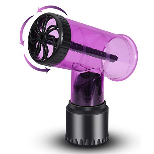 Secador de Pelo Rizador de Rodillo Difusor Secador de Pelo Cubierta de Aire, Herramientas de Secador de Pelo Universal, Difusor de Rizos de Pelo Estilo Tornado Rizador de Aire (Purple)