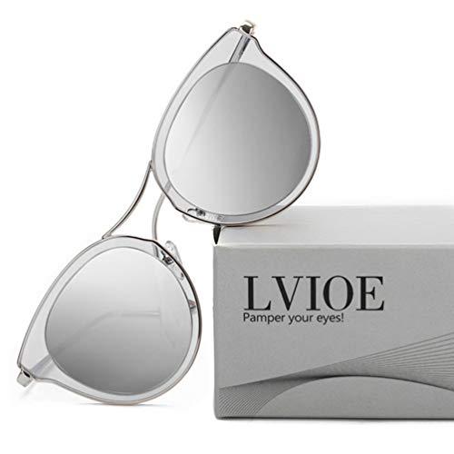 LVIOE Gafas de sol de ojo de gato para mujeres, gafas polarizadas de moda vintage para conducir - 100% de protección UV400