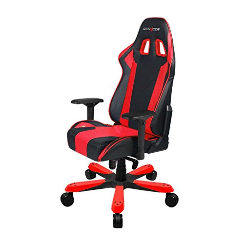 DXRacer OH/KS06/NR King Series Black and Red Gaming Chair - Includes 2 Free Cushions