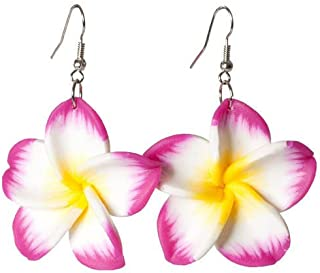 PARTY DISCOUNT Ohrringe Hawaiiblume, pink
