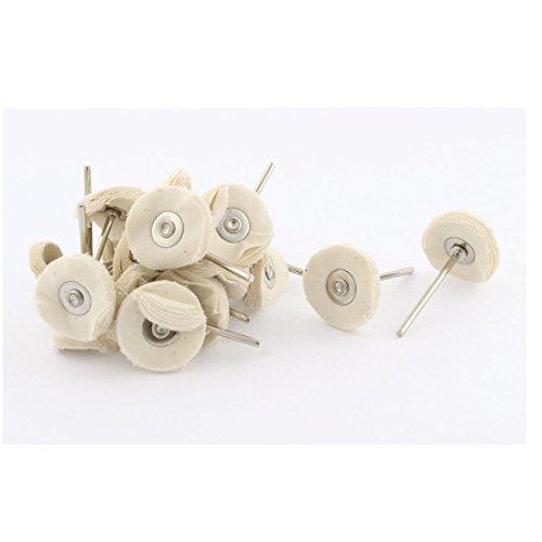 Aexit Rund Bohrer Schaft 2,5cm Dia Polieren Polieren Baumwolle Pad Rad Schlagbohrer mit Rundschaft Weiß 22