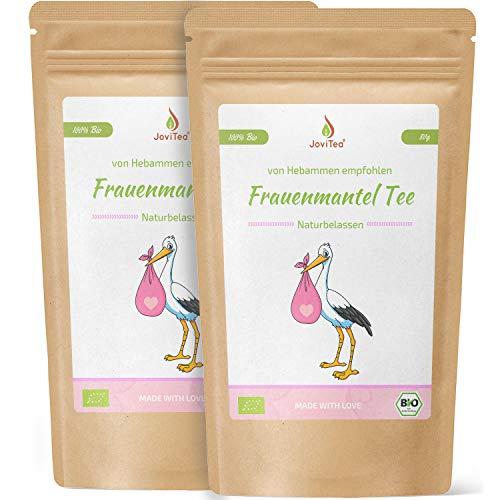 JoviTea® Frauenmanteltee BIO 2er Set + geeignet vor der Schwangerschaft + geerntet in Deutschland - 100% natürlich und ohne Zusatz von Zucker - 2x80g