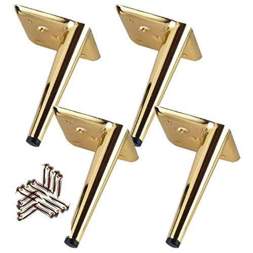 EURYTKS 4X Metall Sofa Beine Schrank Möbel Beine, schwere Möbel Füße, Moderne Küchenfüße Tischbeine, Metall Couchtisch Nachttisch TV Schreibtisch Tischbeine, mit Schrauben, Gold, (15cm / 6')
