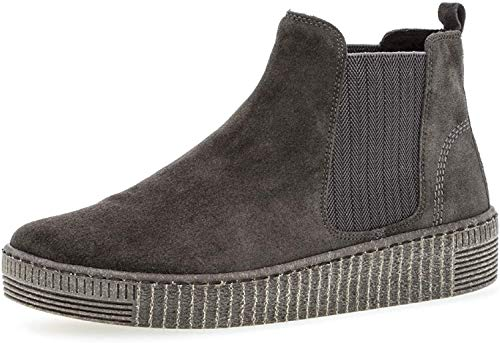 Gabor Damen Stiefeletten, Frauen Chelsea Boots,Best Fitting,Optifit- Wechselfußbett, Schlupfstiefel weiblich Ladies,Pepper/grau(anthr),41 EU / 7.5 UK