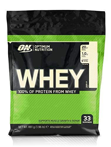 Optimum Nutrition Whey Protein Powder Low Sugar Protein Shake with Amino Acids for Muscle Growth, Vanilla, 33 Servings, 900 g