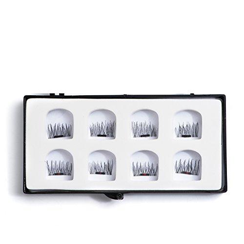 Natural Looking Single Half Magnetic Eyelashes With Ultra Thin One Magnet Magnetic eyelashes 8Pcs/ 2 Pairs