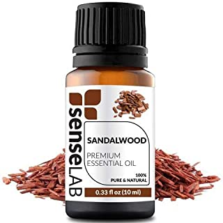 Sandalwood Essential Oil - India - by SenseLAB – 100% Pure, Natural and Highly Concentrated; Therapeutic Grade Oil 0.33 fl oz (10ml)