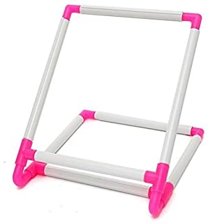 Embroidery Clip Frame,Universal Square Embroidery Frame Stand,Cross Stitch Hoop,Hoop Stand Support Craft Tool for Embroidery, Quilting, Cross-Stitch, Needlepoint, Silk-Painting - 30x25x20cm