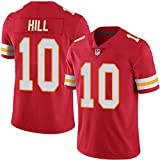 WASDQE Mahomes15# Kelce87# Kansas City Chiefs Maillot Maillot de Foot américain brodé Top Rugby T-shirts-red10-XL