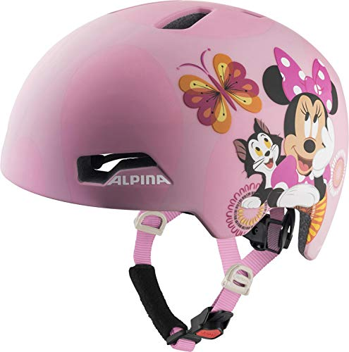 ALPINA Hackney Disney, Caschi da Ciclismo Girls, Minnie Mouse, 51-56