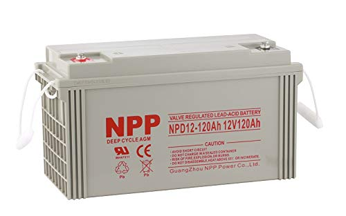 large 12 volt deep cycle battery - 2