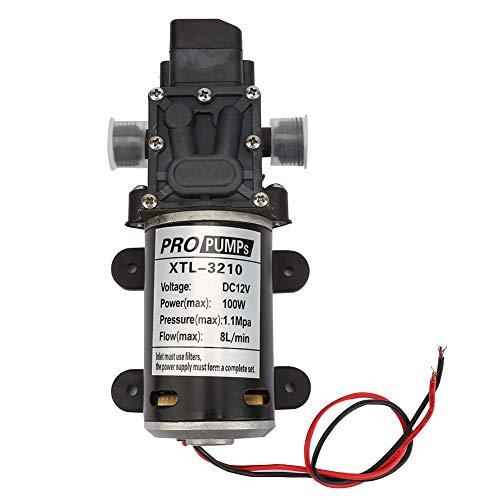 Dancal Bomba de Agua, Bomba de Agua eléctrica Bomba de diafragma 12V Bomba pulverizadora autocebante con Interruptor de presión