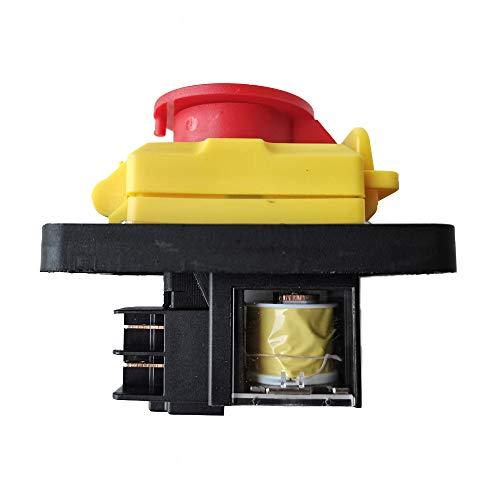 KJD12 Interruptor electromagnético KEDU de 4 polos, interruptor de botón de emergencia...