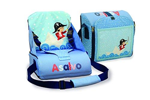 Asalvo 14023 - Trona de viaje, diseño barquito de papel, color azul