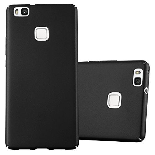 Cadorabo Funda para Huawei P9 Lite en Metal Negro - Cubierta Protección de Plástico Duro Super Delgada e Inflexible con Antichoque - Case Cover Carcasa Protectora Ligera