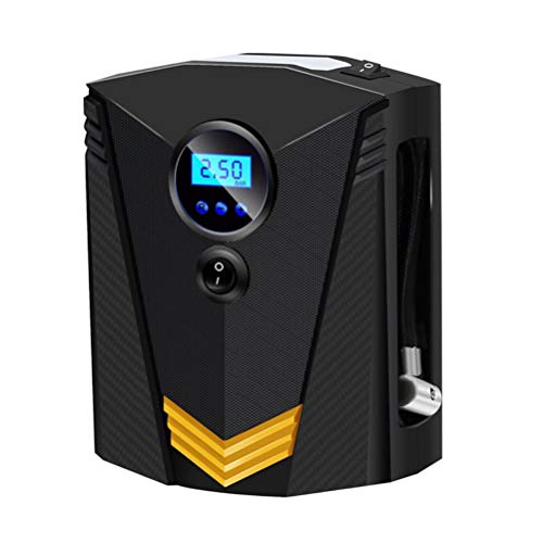 VICASKY Tragbares Auto Mini Luft Inflator 12V Kleine Hand USB-Reifenpumpe mit Digitaler LCD-LED-Licht für Auto Fahrzeug Fahrradreifen
