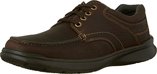 Clarks Men's Cotrell Edge Oxford, Brown Oily Leather, 10 D-Medium US